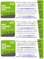 Will you pledge to make a change, big or small, that will  make a difference for your patients ?