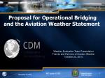 Proposal for Operational Bridging and the Aviation Weather Statement