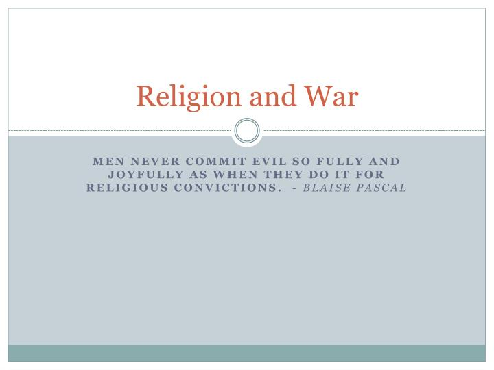 religion and war n.