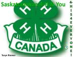 Saskatchewan 4-H & You