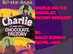 Charlie and the Chocolate Factory  Webquest By: Mailey  Gorman Rachel Lamb