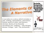 The Elements O f A Narrative