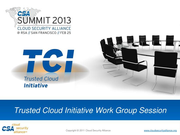 trusted cloud initiative work group session n.