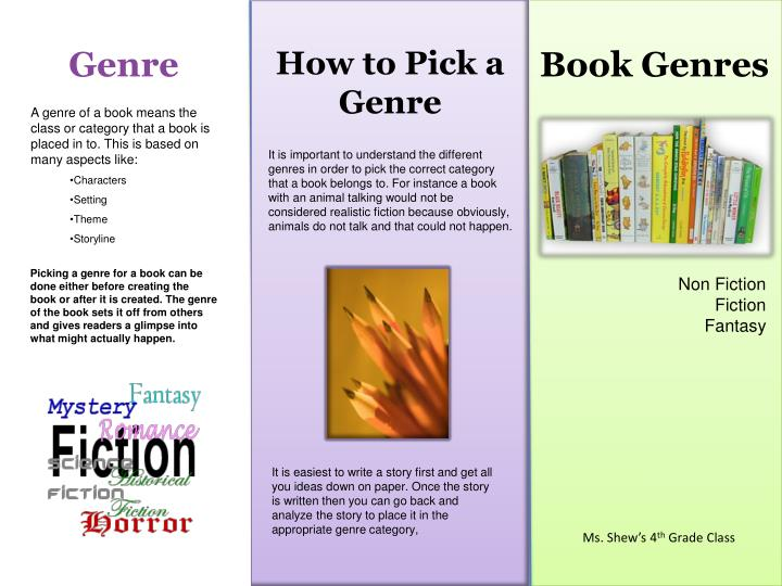 book genres for first grade
