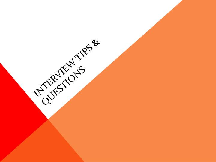 interview tips questions n.