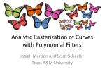 Analytic Rasterization of Curves with Polynomial Filters