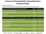 Survey on Pennsylvania's Concealed Carry Firearms Policy