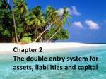 Chapter 2 The double entry system for assets, liabilities and capital