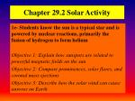Chapter 29.2 Solar Activity