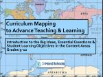 Curriculum Mapping  to Advance Teaching & Learning