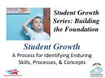Student Growth A Process for Identifying Enduring Skills, Processes, & Concepts