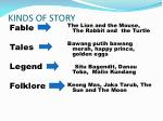 KINDS OF STORY