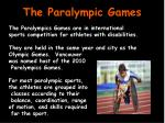 The Paralympic Games