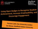 Farzana Latif , City University London Ian Glover, Sheffield Hallam University