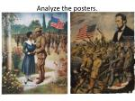 Analyze the posters.