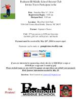 Piedmont IB Middle  School Booster Club Invites  You  to P articipate in the