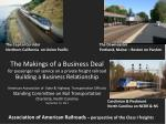 Association of American Railroads – perspective of the Class I freights