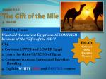 Chapter 7: L.1 The Gift of the Nile p. 184-188