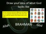 Draw your idea of what God looks like .