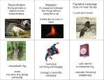 Personification Giving animals or objects human characteristics.