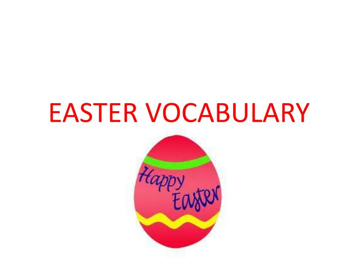 easter vocabulary n.