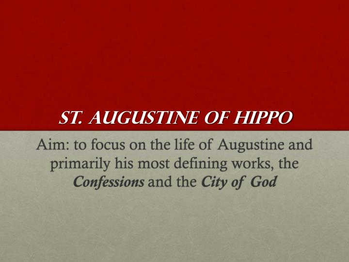 st augustine of hippo n.
