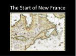 The Start of New France