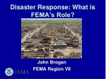 Disaster Response: What is FEMA's Role?