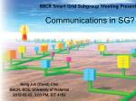 Communications in SG ?