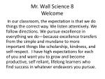 Mr. Wall Science 8 Welcome
