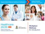 Workplace Wellness An Introduction