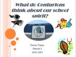 What do Centurions think about our school spirit?