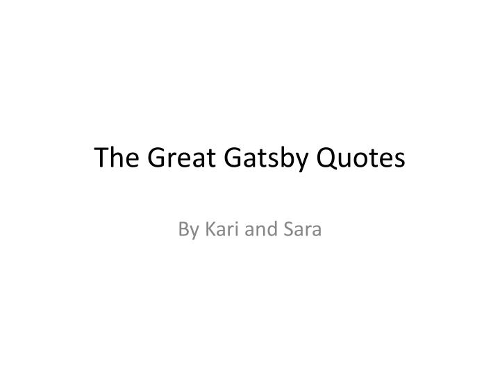 the great gatsby quotes n.