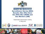 Stakeholders dissemination meeting 31 May 2012