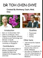 Dr Toh Chin Chye
