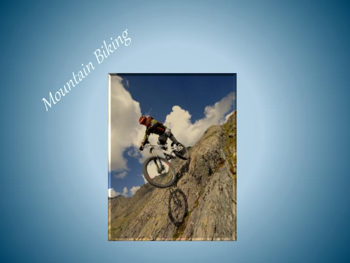 mountain biking n.