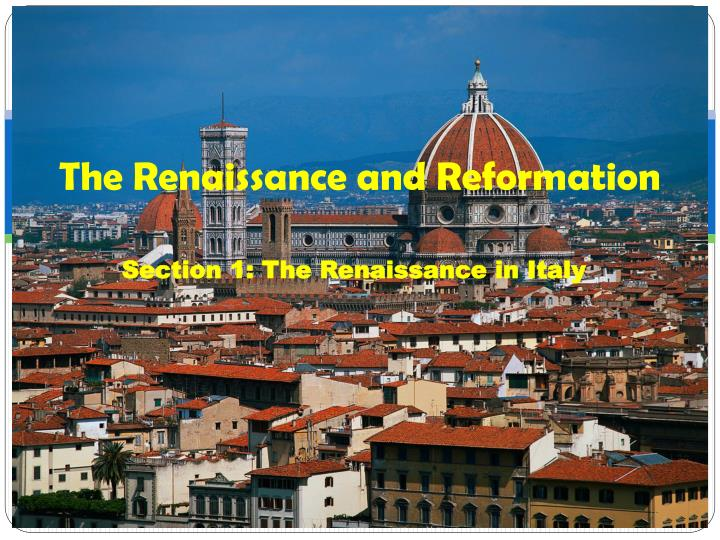 the renaissance and reformation n.