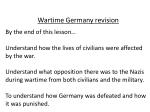 Wartime Germany revision