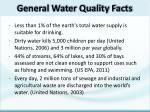 Less than 1% of the earth's total water supply is suitable for drinking.