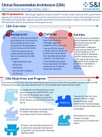Clinical Documentation Architecture (CDA) S&I Framework One-Pager Series, Side 1