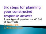 Six steps for planning your constructed response answer