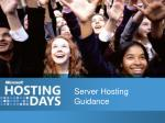 Server Hosting Guidance