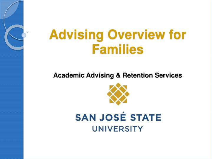 advising overview for families academic advising retention services n.