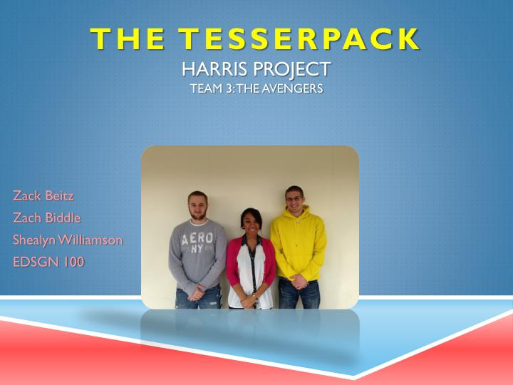 the tesserpack harris project team 3 the avengers n.