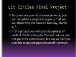 Lit Circles Final Project