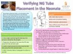 Verifying NG Tube Placement in the Neonate