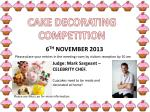 CAKE DECORATING COMPETITION