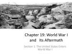 Chapter 19: World War I and Its Aftermath