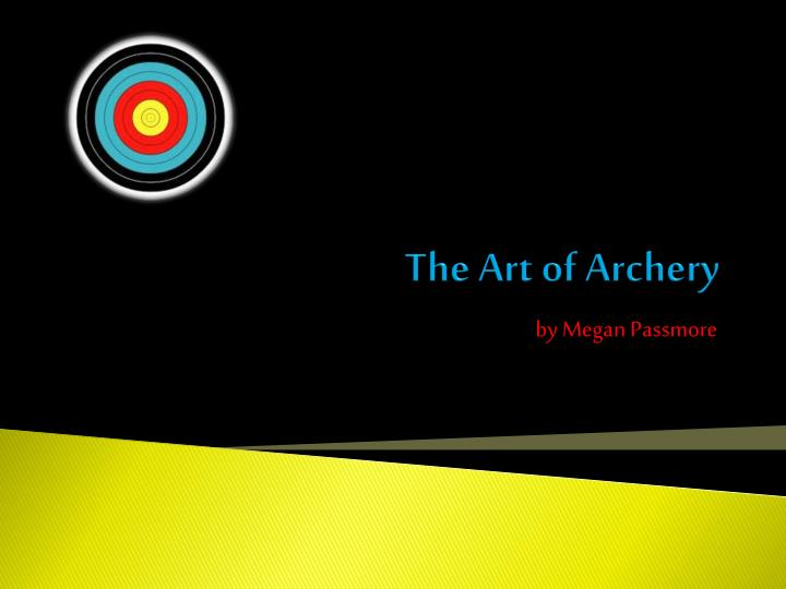 the art of archery n.