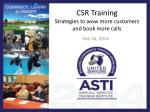 CSR Training Strategies to wow more customers and book more calls